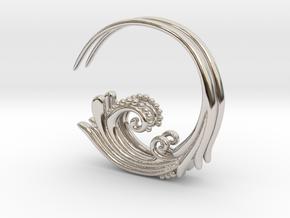 Flourish Earrings in Rhodium Plated Brass