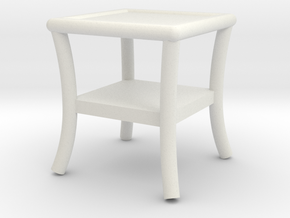 1:48 Patio Side Table in White Natural Versatile Plastic