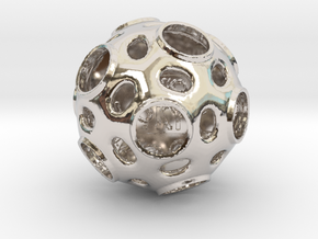 ZWOOKY Style 3412  -  Sphere in Rhodium Plated Brass