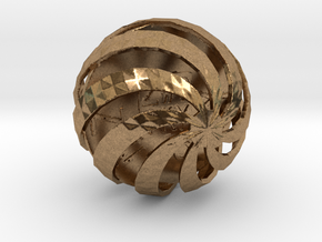 ZWOOKY Style 3411  -  Sphere in Natural Brass