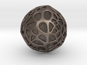 ZWOOKY Style 3408  -  Sphere in Polished Bronzed Silver Steel