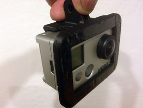 Gopro Mount in White Strong & Flexible