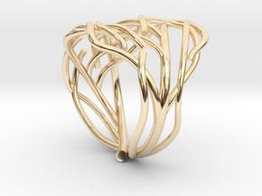 Tree ring in 14k Gold Plated Brass