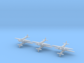 Caproni Ca.309 Ghibli 1/700 (6 airplanes) in Smooth Fine Detail Plastic