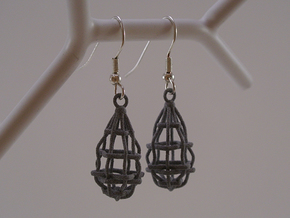 My Safety Net - Earrings in Red Processed Versatile Plastic