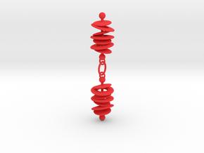 Orbital Drift Earrings in Red Strong & Flexible Polished