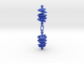 Colorful Orbital Drift Earrings in Blue Processed Versatile Plastic