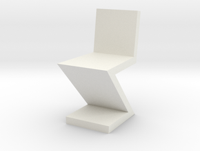 1:48 Zig Zag Chair in White Natural Versatile Plastic
