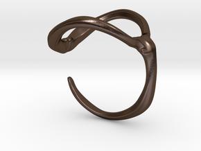 Para_Hook_XXL in Polished Bronze Steel