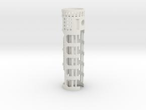 NB2-28mmRail-1.10OD in White Natural Versatile Plastic