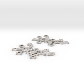 Sucrose earrings in Rhodium Plated Brass