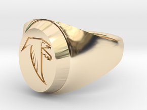 Falcon Class Ring in 14k Gold Plated Brass