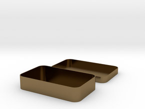 Parametric Rounded Box in Polished Bronze