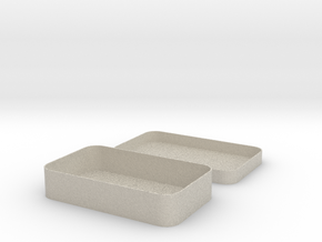 Parametric Rounded Box in Natural Sandstone