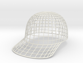 Vortex Hat - Small in White Natural Versatile Plastic