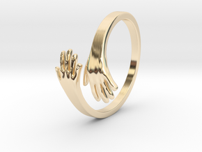 Hand Ring in 14K Yellow Gold