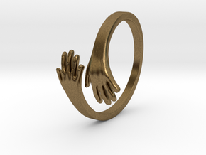 Hand Ring in Natural Bronze