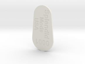 Splendid Mods SX350 26650 V2 Cap in White Natural Versatile Plastic