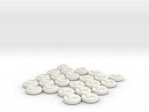 Checkers Set in White Natural Versatile Plastic