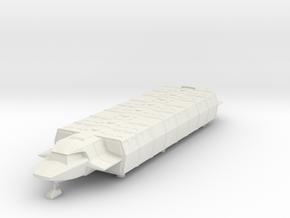 Shuttle (Industrial) Landed (V, The Visitors) in White Natural Versatile Plastic: 1:72