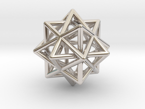 Compound of Three Octahedra in Rhodium Plated Brass