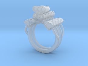 V8 ENGINE RING in Smooth Fine Detail Plastic: 12 / 66.5