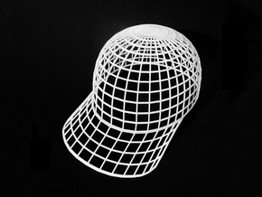 Vortex Hat - Large in White Natural Versatile Plastic