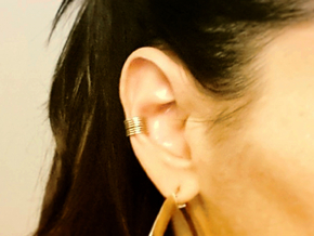 Ear Cuff - rods in Raw Brass