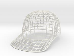 Vortex Hat - Extra Extra Large in White Natural Versatile Plastic