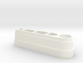 Zaccaria Flipper Replacement in White Processed Versatile Plastic