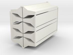 Leitplanken Beton 1:87 in White Natural Versatile Plastic
