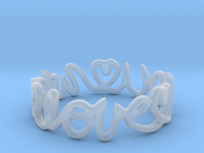 """We Love you"" Ring in Smooth Fine Detail Plastic"