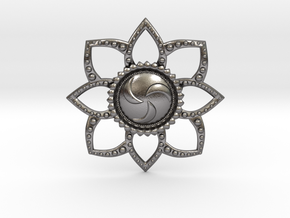 Forest Medallion in Polished Nickel Steel