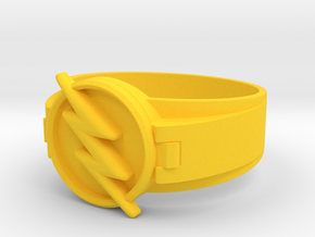 Reverse Flash Ring Size 16 24.64 mm  in Yellow Processed Versatile Plastic