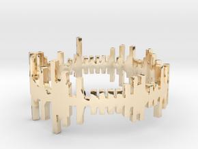 Amen, Sister - Alternative Amen Break Ring in 14k Gold Plated Brass