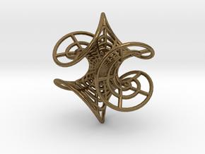Enneper' Mesh Earring in Natural Bronze
