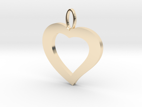 Cuore20 in 14k Gold Plated Brass
