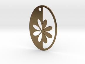 Simple Flower pendant in Natural Bronze