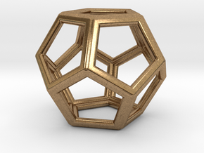 DODECAHEDRON (Platonic) in Natural Brass