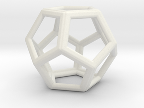 DODECAHEDRON (Platonic) in White Natural Versatile Plastic