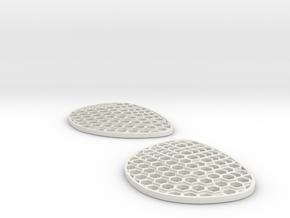 Hexalens B - Both Lenses in White Natural Versatile Plastic