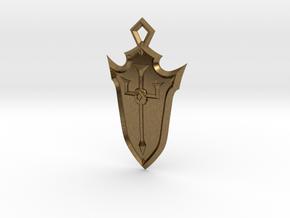 Crusader Shield in Natural Bronze