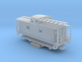 "D&H ""Pennsylvania Pusher"" Caboose (1/160) in Smooth Fine Detail Plastic"
