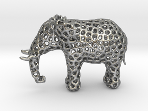 The Osseous Elephant in Natural Silver