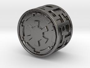 Empire knob (Big) in Polished Nickel Steel