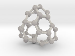 0041 Fullerene c36-13 d3h in Full Color Sandstone