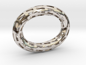 ZWOOKY Style 3432  -  Moebius  -  ready to order in Rhodium Plated Brass