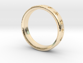 Pokemon Ring in 14k Gold Plated: 6 / 51.5