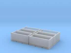 Steel Scrap bins (N scale) - set of 6 in Smooth Fine Detail Plastic