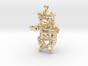 Bbear in 14k Gold Plated Brass